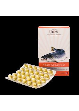 «Витал плюс» (масло лосося в капсулах) Омега-3 жирные кислоты снижают риск инфаркта