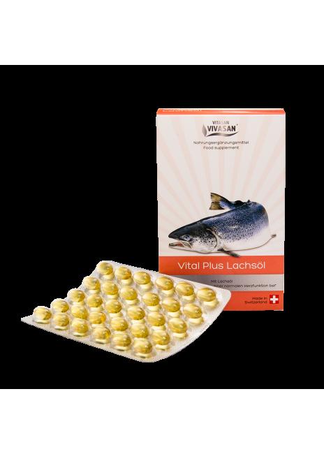 «Витал плюс» (масло лосося в капсулах) Омега-3 жирные кислоты снижают риск инфаркта.
